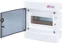 Щит внутренний распределительный ECМ 8PT (8мод.прозр.дверь) арт. 1101010
