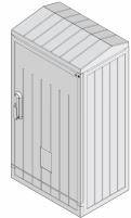 Шкаф полиэстеровый армированный KVR 2 (Ш1120хГ342) арт.1601603