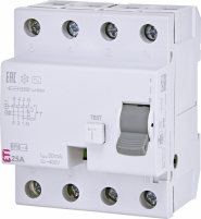 Реле дифференциальное (УЗО) EFI6-4 25/0,03 AC (6кА) арт.2062137