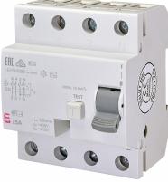 Реле дифференциальное (УЗО) EFI-4 25/0,1 AC (10kA) арт.2063142
