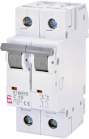 Автоматический выключатель ETIMAT 6 2p С 16А (6 kA) арт.2143516