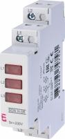 Трехфазный индикатор наличия напряжения SON H-3R (3x красный LED) арт.2471552