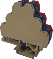 Клемма винтовая трехуровневая VS 2,5 NAI 3 N с соед. мостиком  (2,5 mm2_синяя) арт. 3901341