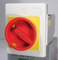 Рукоятка желто-красн. для монтажа непосредственно на дверцу шкафа FMEE55 IP55 арт. 4648037